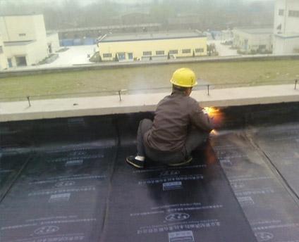 屋頂防水堵漏工作現場